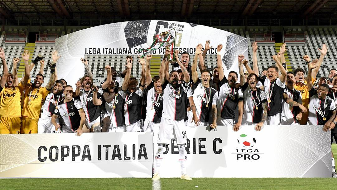 La Juve Under 23 alza la Coppa Italia di Serie C. Getty