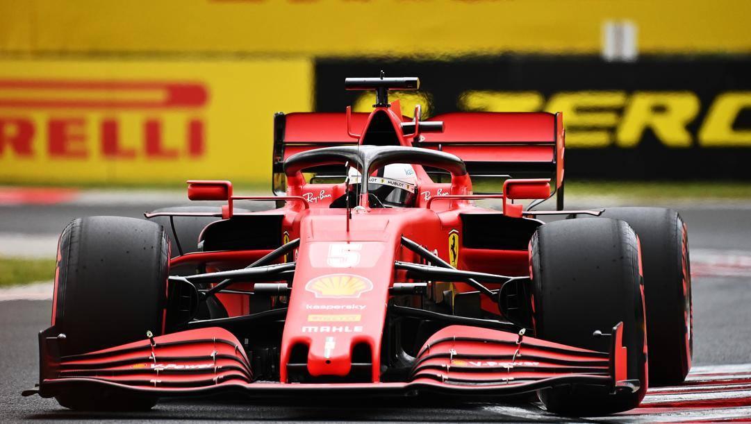 La Ferrari di Sebastian Vettel. Getty