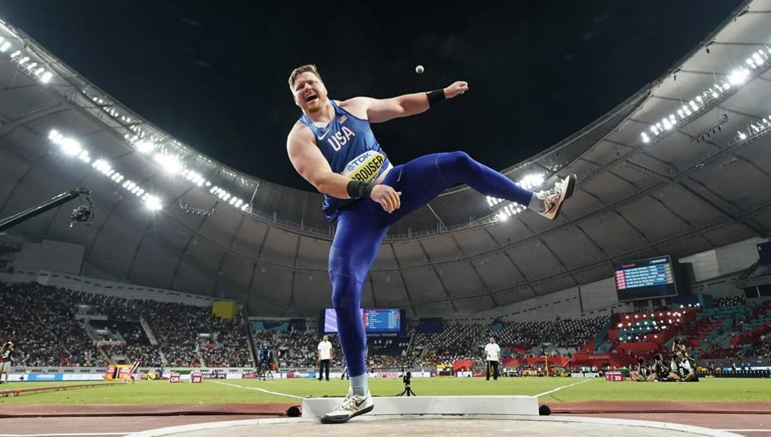 Ryan Crouser ai Mondiali di Doha 2019. Ap