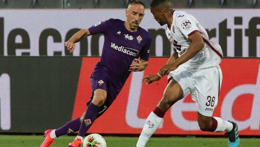 Franck Ribery, 37 anni, migliore in campo per la FIorentina. Getty