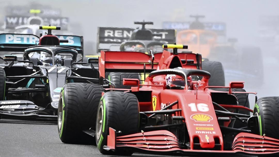 La Ferrari di Leclerc. Lapresse