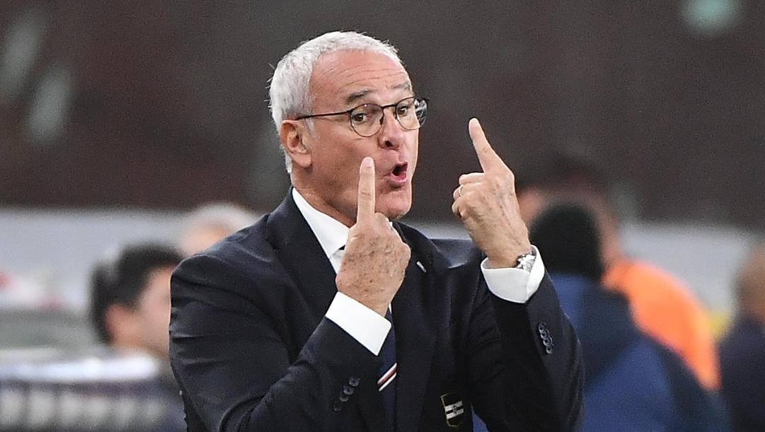 Il tecnico sampdoriano Claudio Ranieri, 68 anni: cinque vittorie negli ultimi sei incontri ANSA
