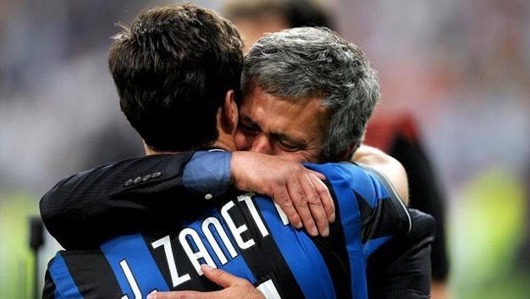 Zanetti e Mourinho.