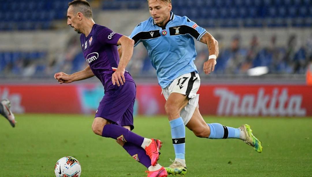 Franck Ribery, 37 anni, contro la Lazio. Getty