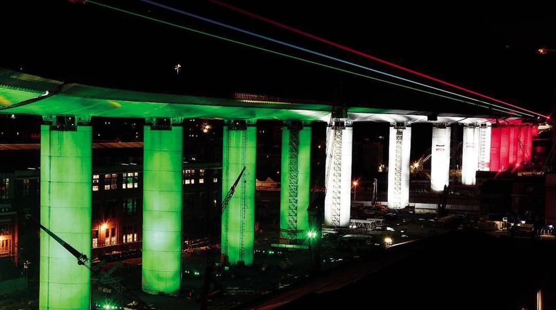Il nuovo ponte di Genova, inaugurato ieri. Ansa