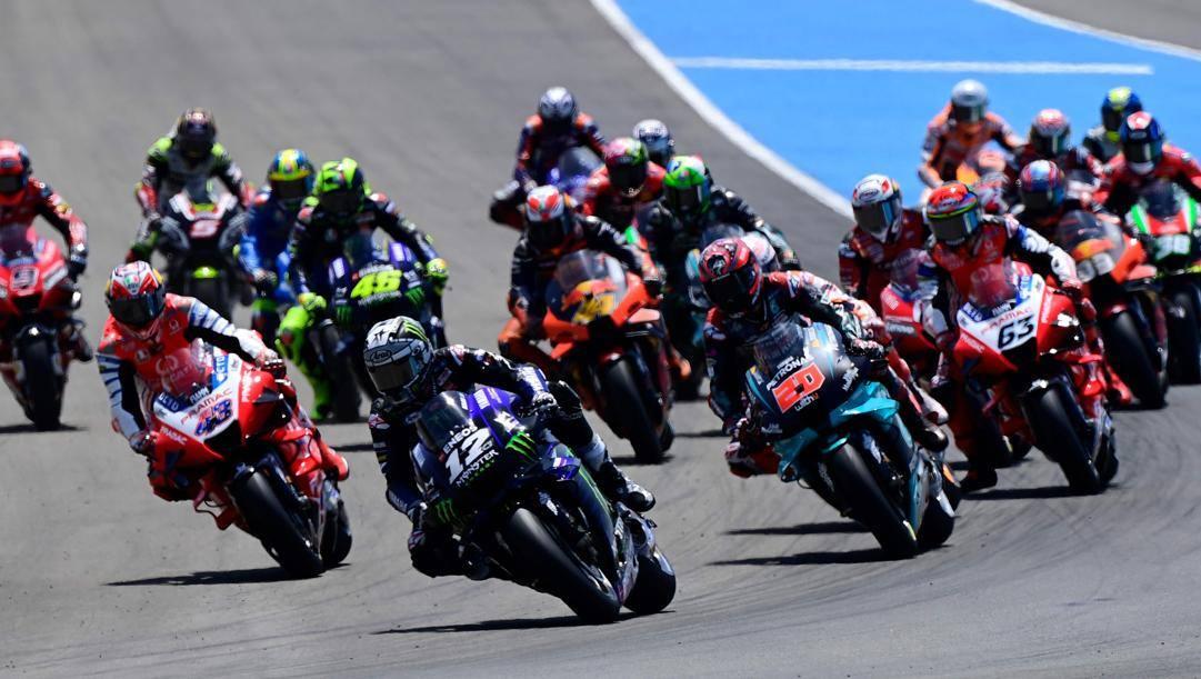 La partenza del GP di Jerez de la Frontera il 19 luglio