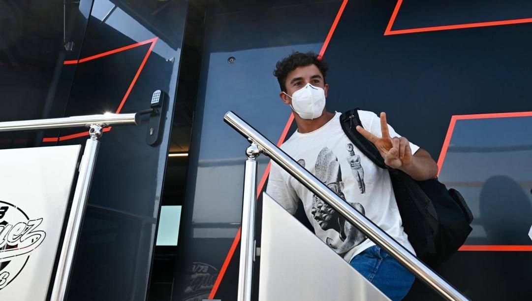 Marc Marquez, 27 anni, all'arrivo al circuito di Jerez. MotoGP.com