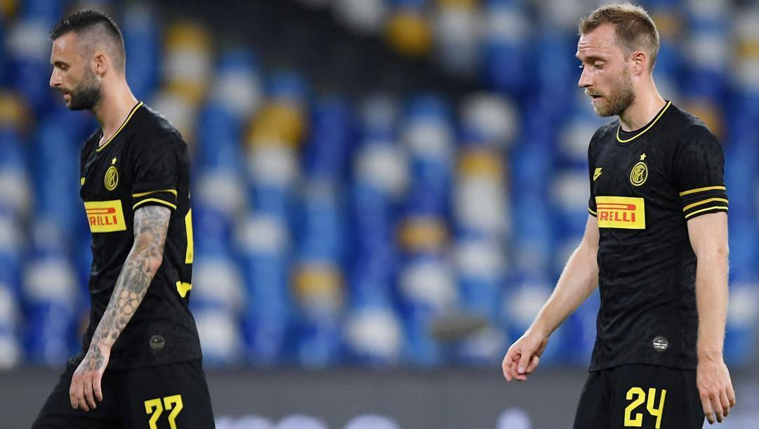 Marcelo Brozovic e Christian Eriksen. Getty Images