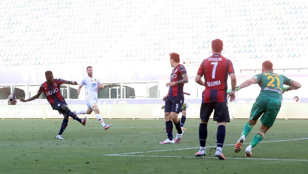 il gol partita di Musa Barrow al 93'. Lapresse