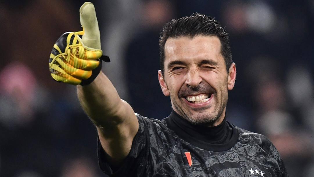 Gianluigi Buffon, 42 anni, dieci scudetti con la Juventus. Afp