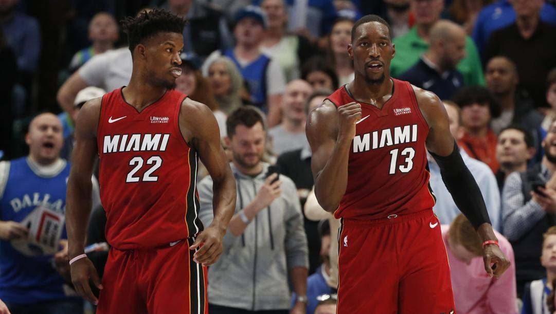 Jimmy Butler e Bam Adebayo, i due All Star di Miami. Ap