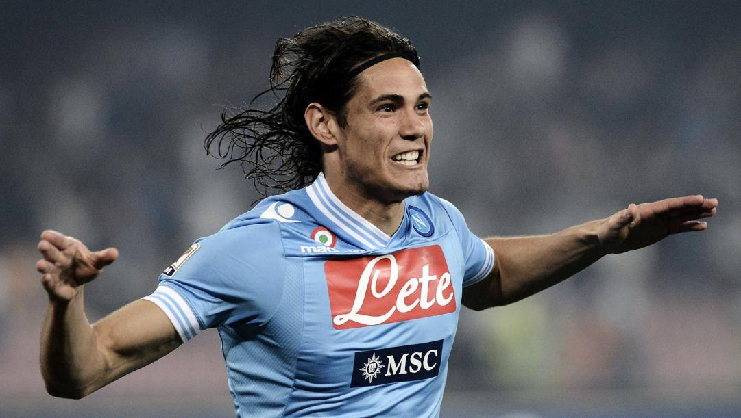 Edinson Cavani, 33 anni, al Napoli dal 2010 al 2013. Afp
