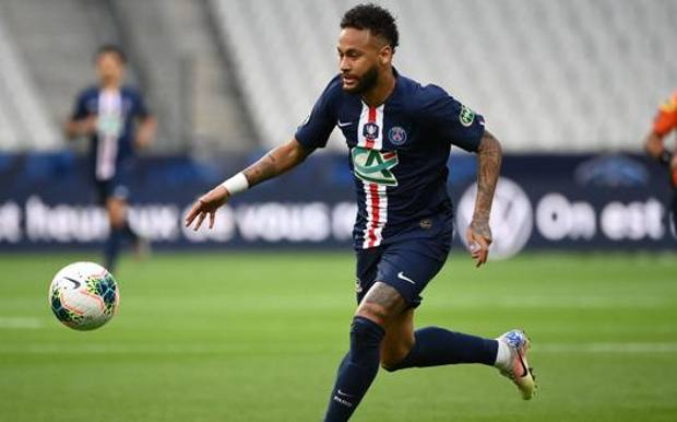 Neymar nella finale di Coppa di Francia vinta contro il St.Etienne. Afp