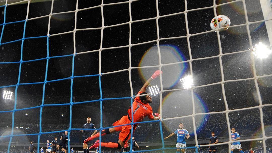 Il gol dell'1-0 di Fabian Ruiz. Getty