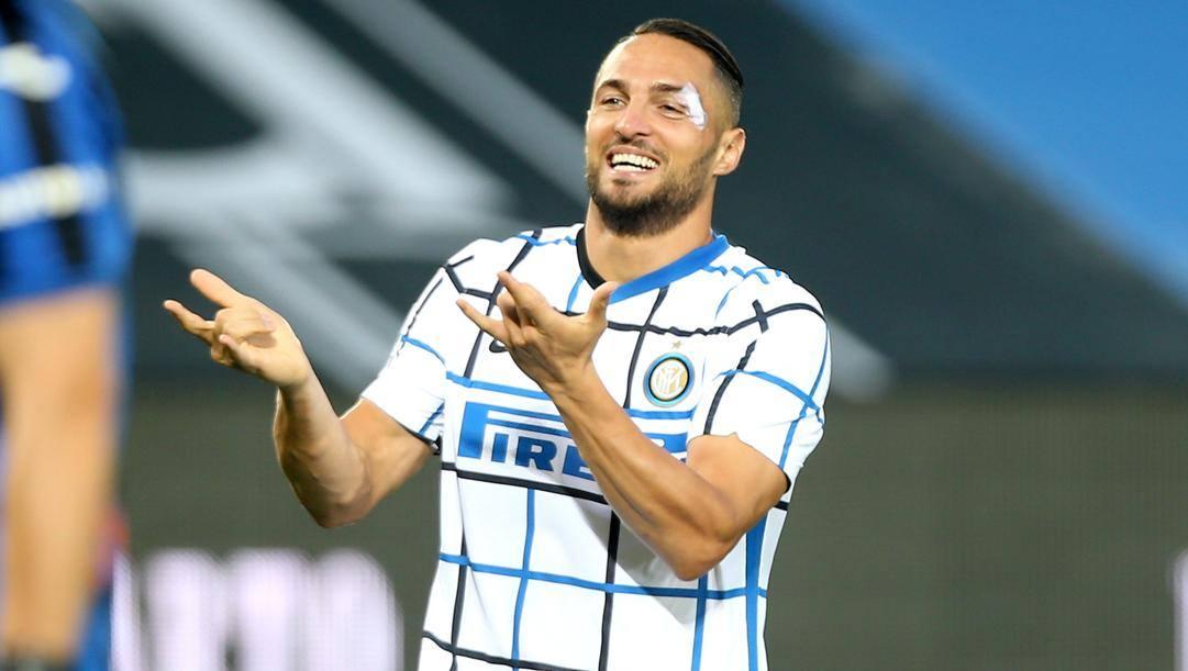 D'Ambrosio dopo il gol all'Atalanta. Kulta