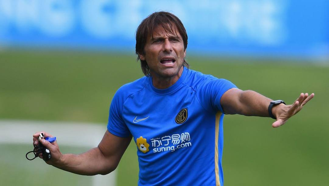 Antonio Conte in allenamento. Getty