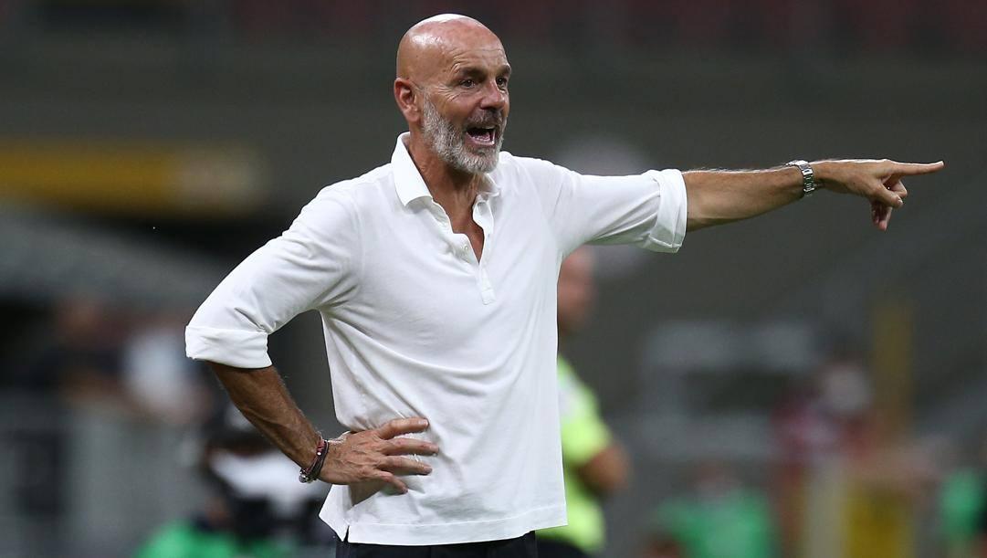 Stefano Pioli, allenatore del Milan. Lapresse