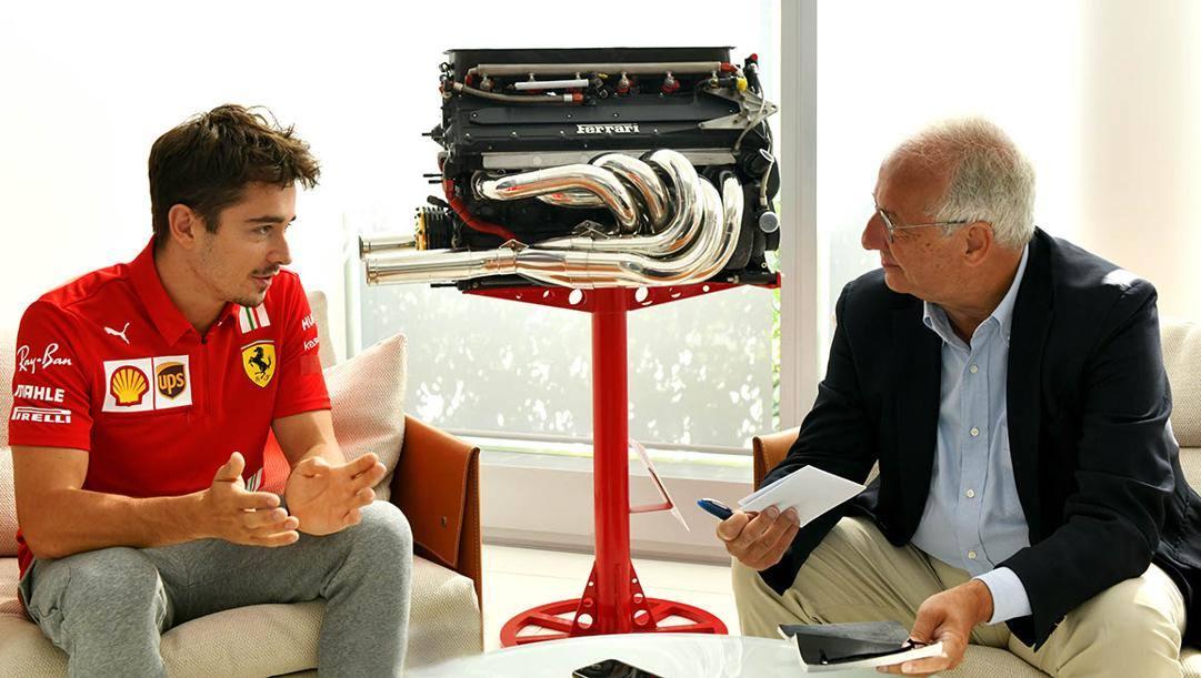 Charles Leclerc intervistato da Walter Veltroni
