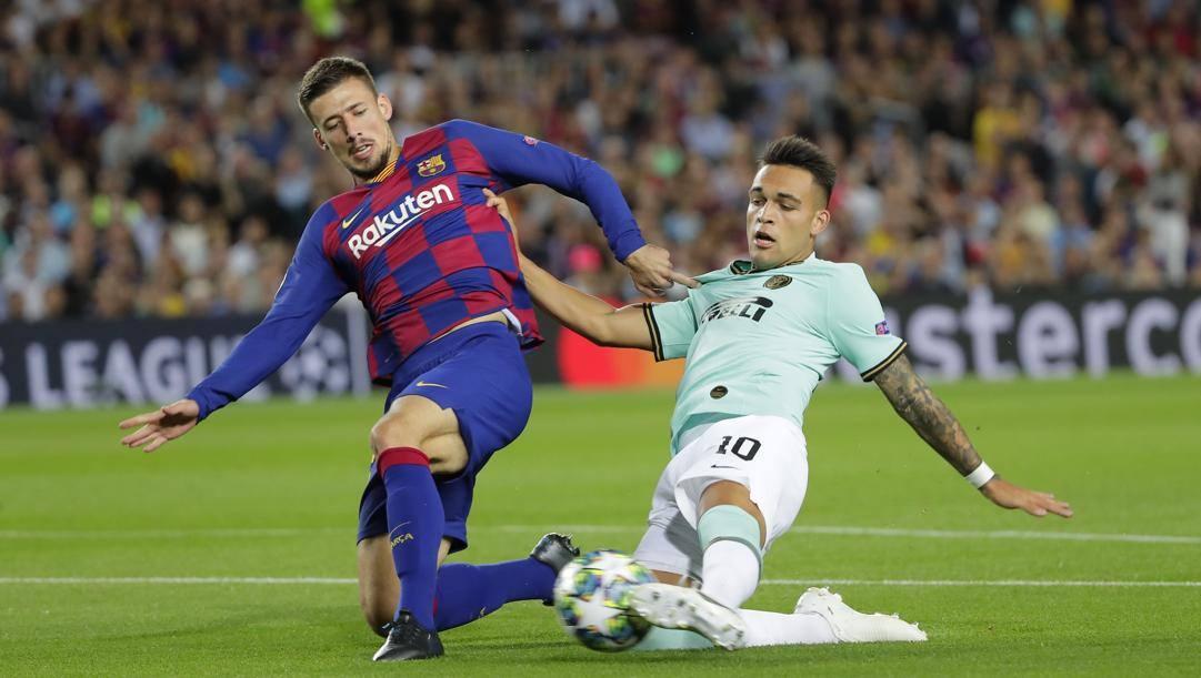 Il gol di Lautaro a Barcellona. Ap