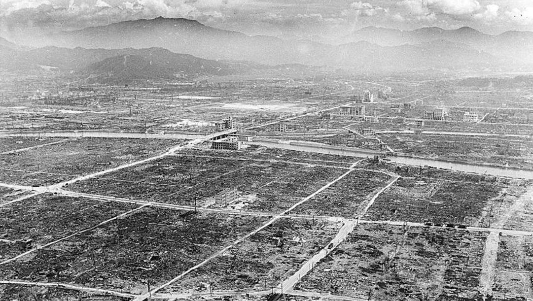L'immagine di Hiroshima dopo l'esplosione nucleare il 6 agosto 1945