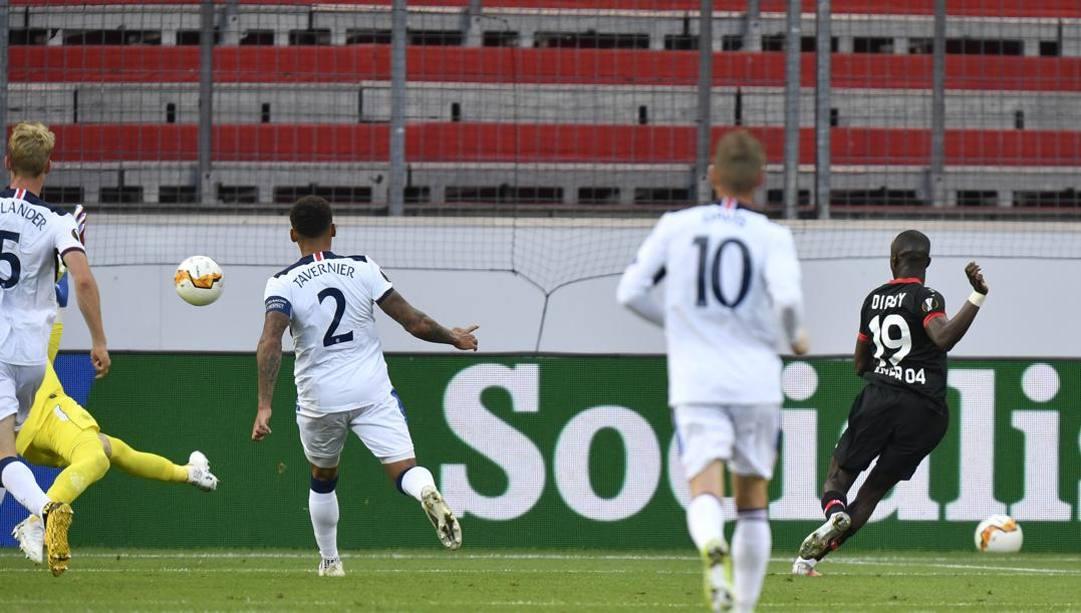 Il gol di Diaby. LaPresse