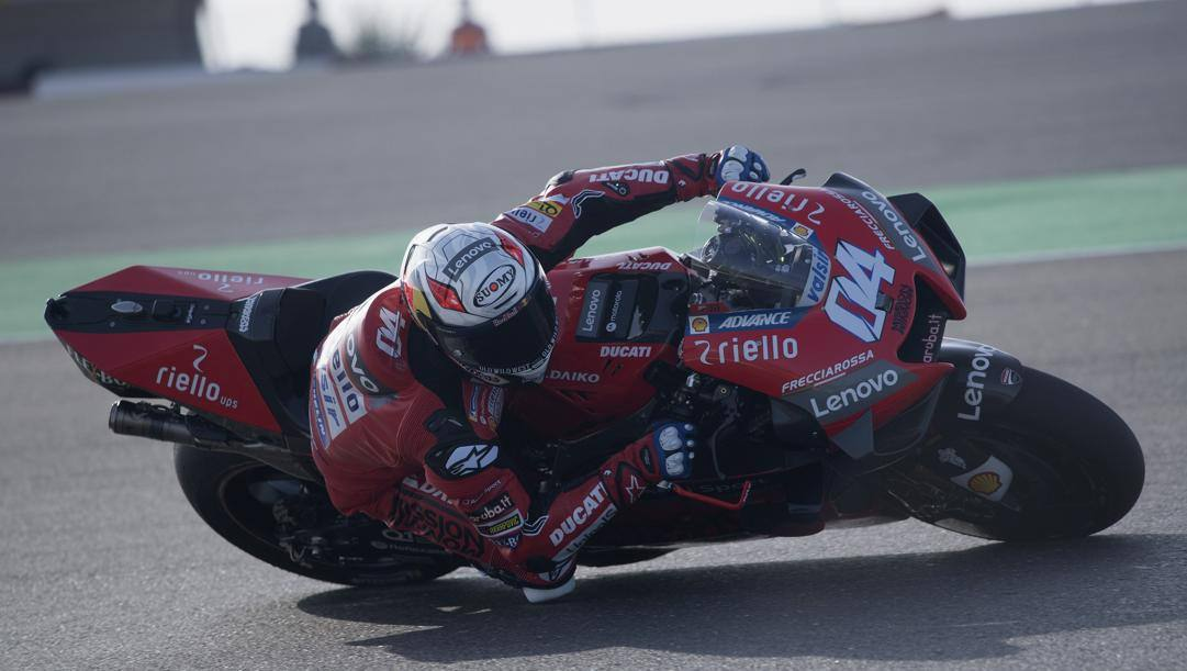 Andrea Dovizioso sulla Ducati nei test in Qatar dello scorso febbraio. Getty