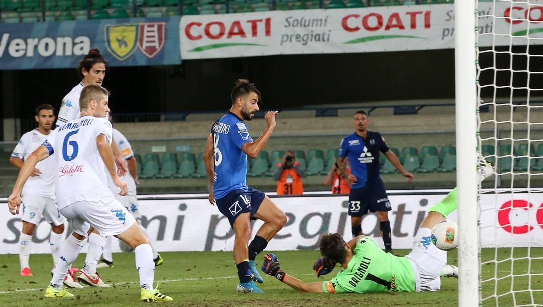 Il gol di Garritano all'Empoli. LaPresse