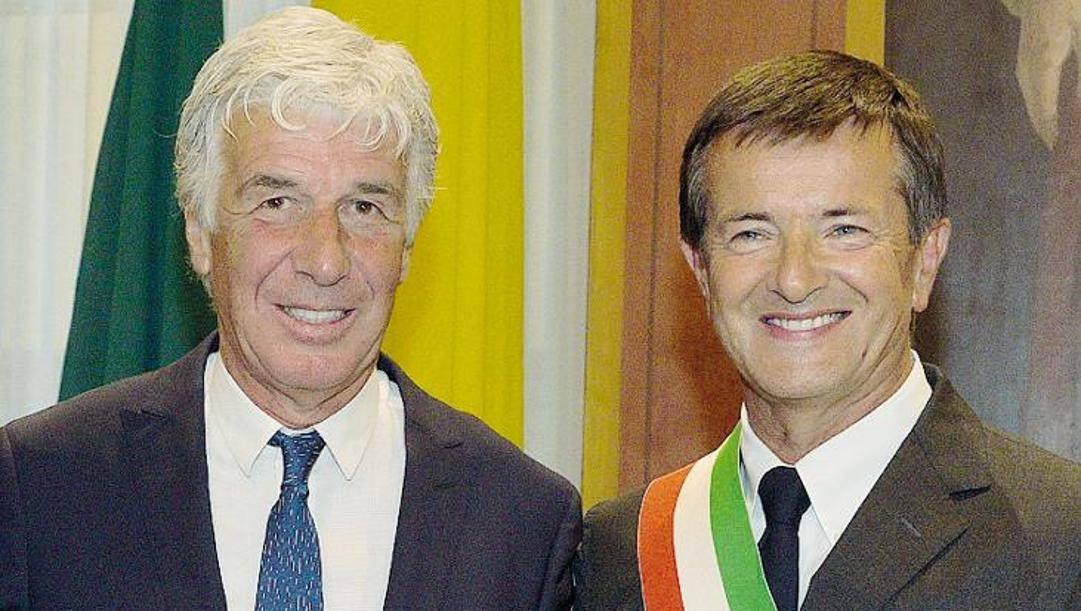 Gian Piero Gasperini e Giorgio Gori