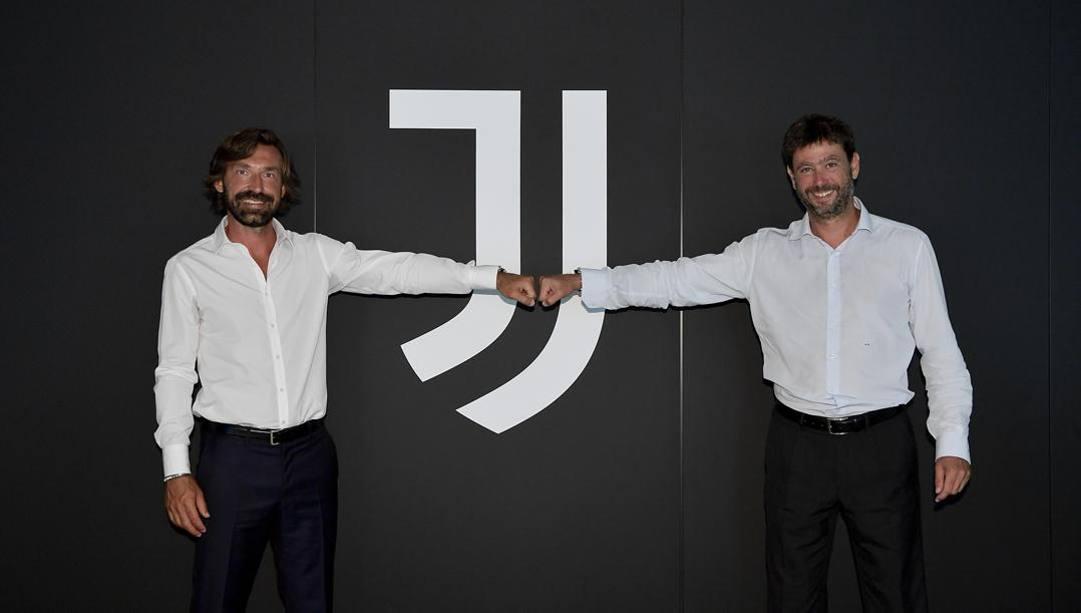 Andrea Pirlo ed Andrea Agnelli. Getty