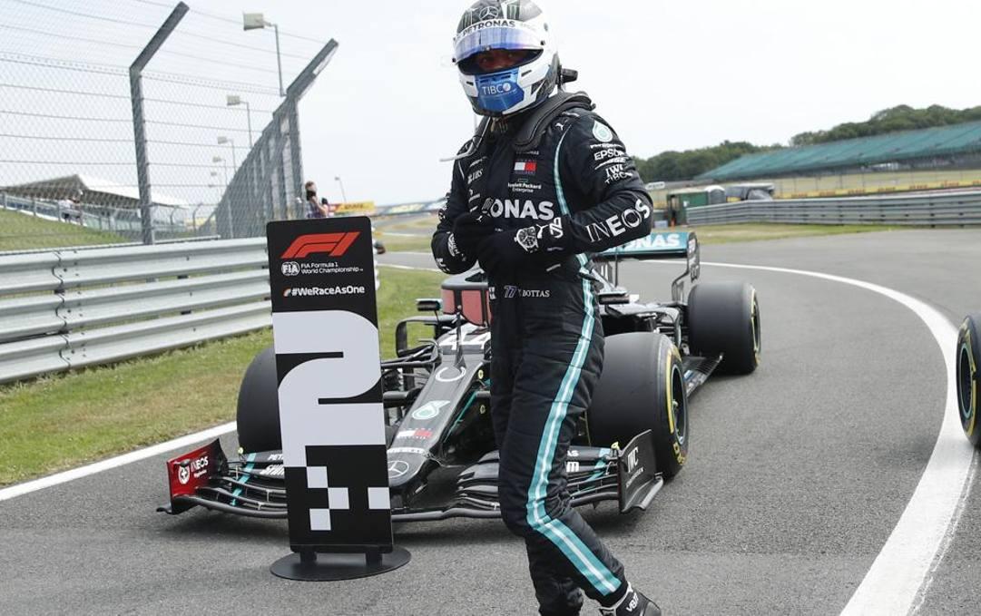 Lewis Hamilton, ieri secondo in qualifica nel bis di Silverstone