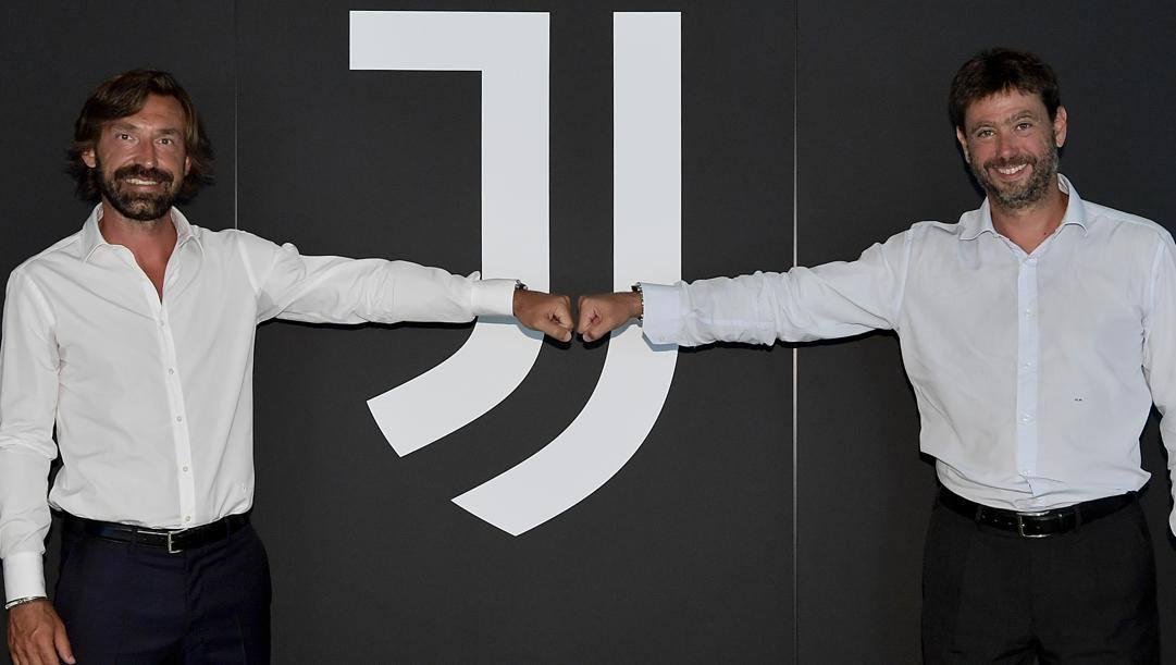 Andrea Pirlo con Andrea Agnelli. Getty