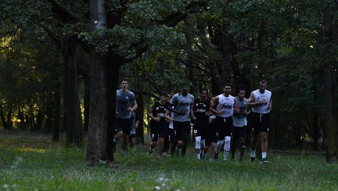 La Virtus Bologna in allenamento