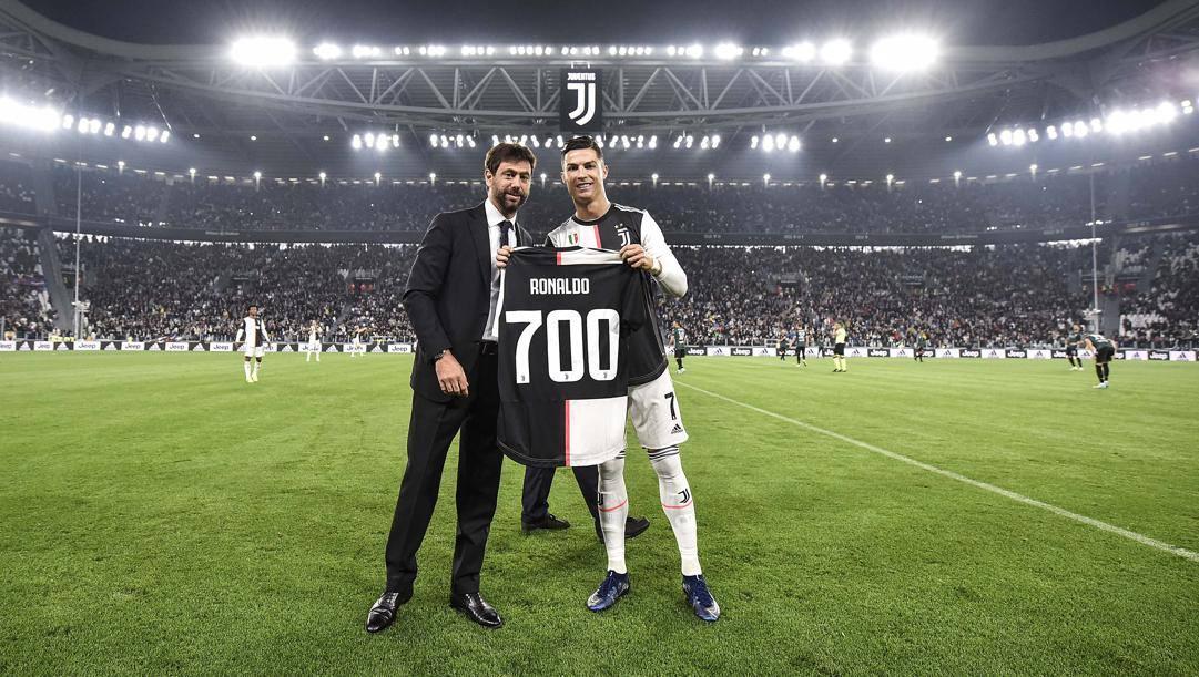 Cristiano Ronaldo e Andrea Agnelli. Getty