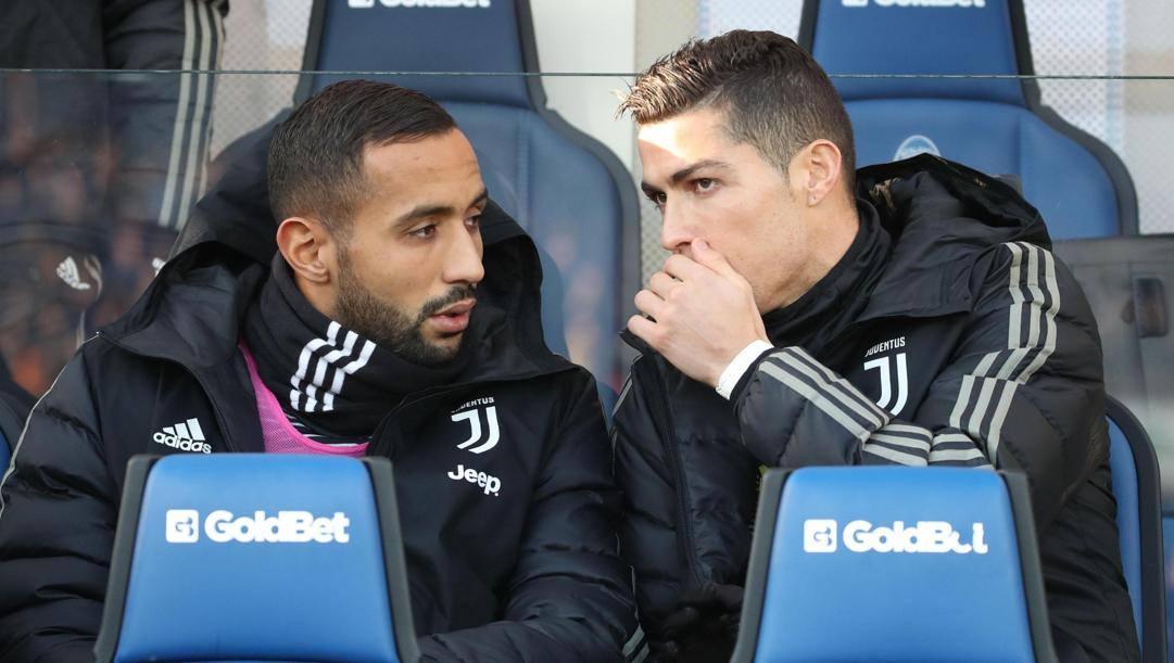 Benatia con Ronaldo ai tempi della Juve. Ansa