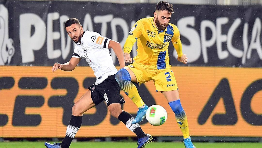 Una fase di Spezia-Frosinone di campionato. LaPresse