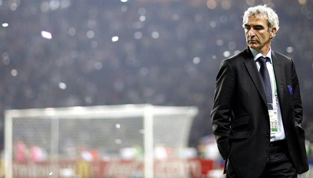 Berlino 2006, finale mondiale: l'Italia festeggia, Raymond Domenech si mangia il fegato. Epa
