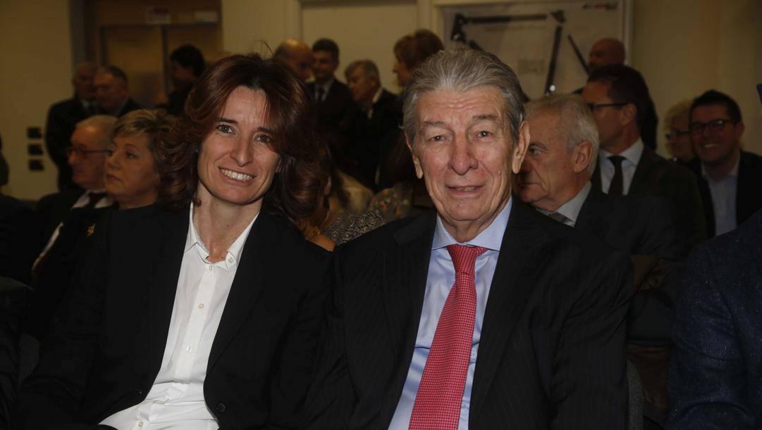 Norma Gimondi in una foto con papà Felice. Bettini