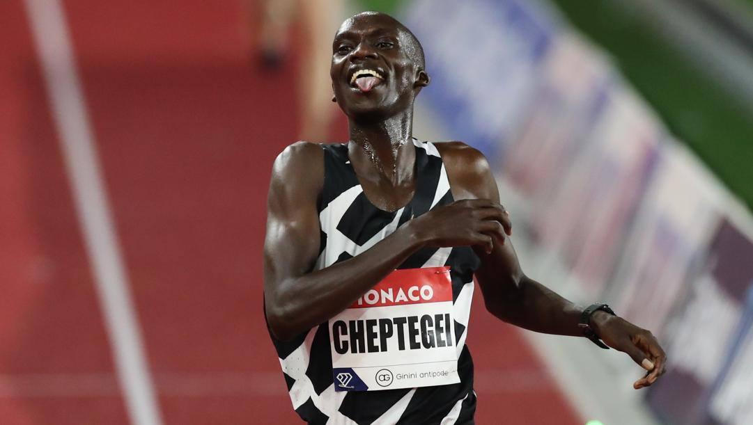 Joshua Cheptegei, 23 anni, nuovo primatista mondiale dei 5000. Getty