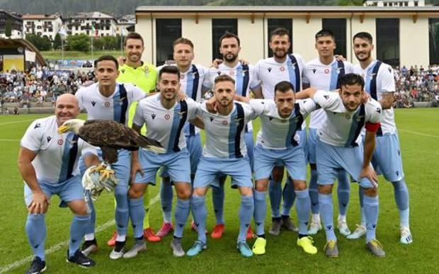 La Lazio ad Auronzo un anno fa. Getty