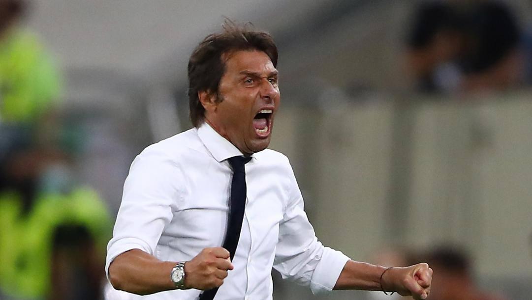 Antonio Conte, tecnico dell'Inter, a caccia della sua prima coppa europea. Ansa