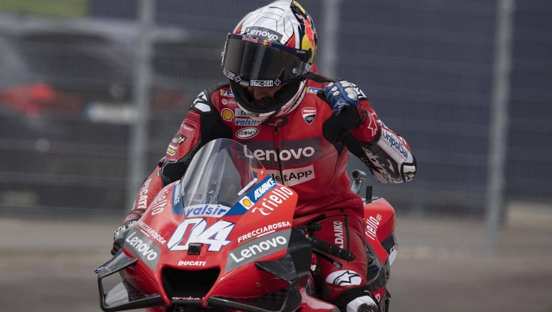 Andrea Dovizioso sulla Ducati ieri vittoriosa in Austria. Getty