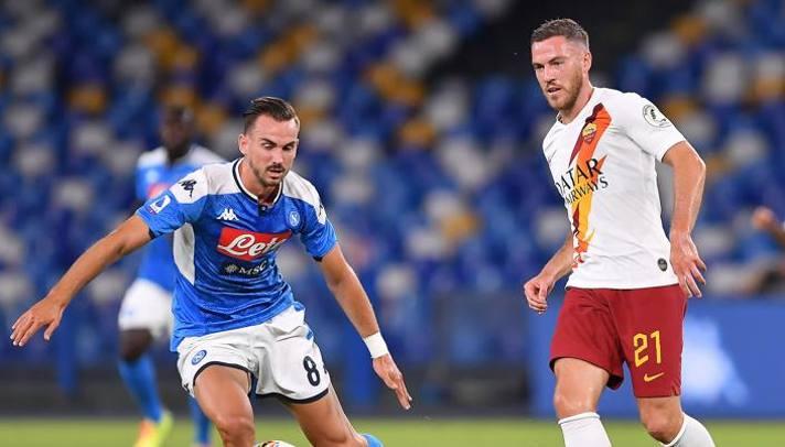 Jordan Veretout contro Fabian Ruiz, futuri compagni al Napoli? Lapresse