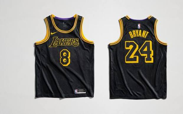La maglia che verrà indossata dai Lakers