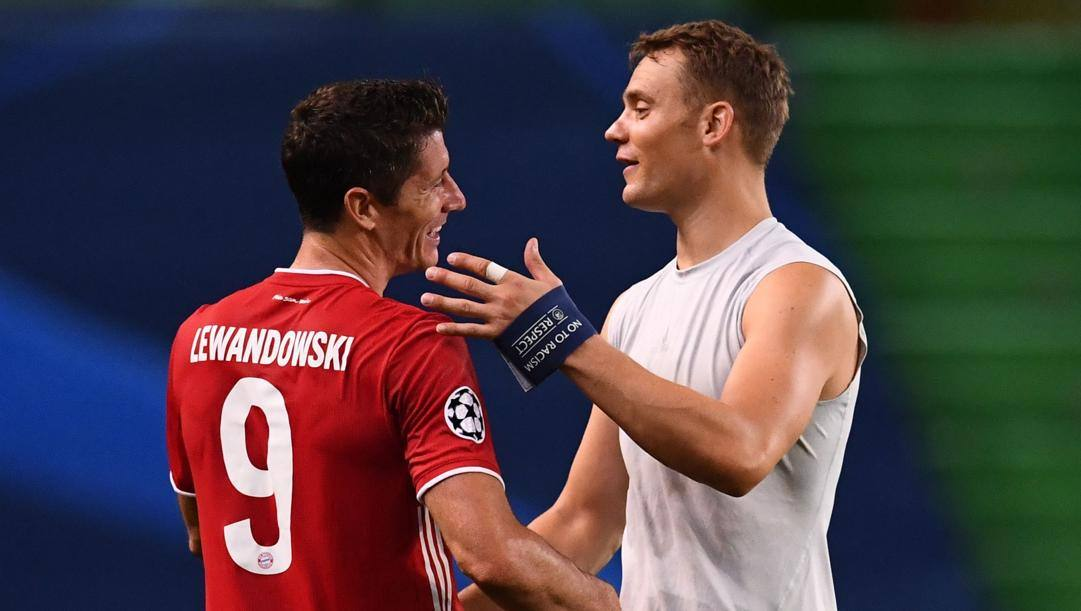 Lewandowski e Neuer, le colonne del Bayern. Afp