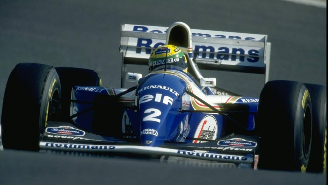 La Williams-Renault di Ayrton Senna: il pilota brasiliano morì con la FW16 a Imola il 1 maggio 1994. Getty