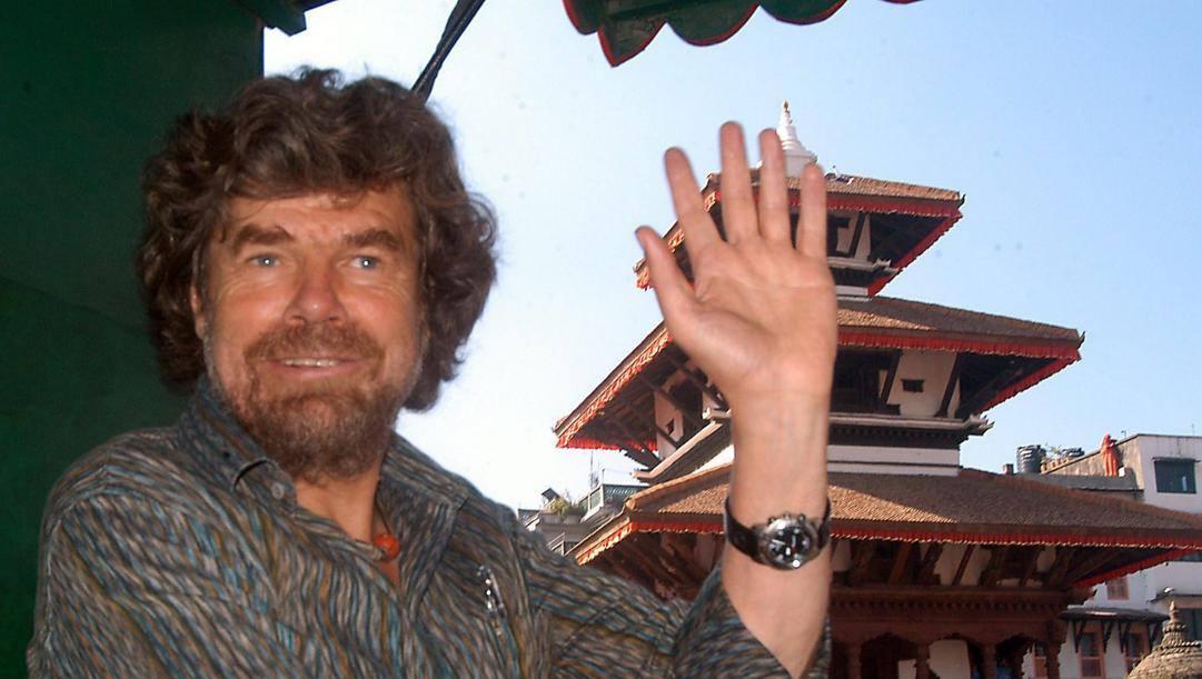 Reinhold Messner a Kathmandu nel 2004. Ansa