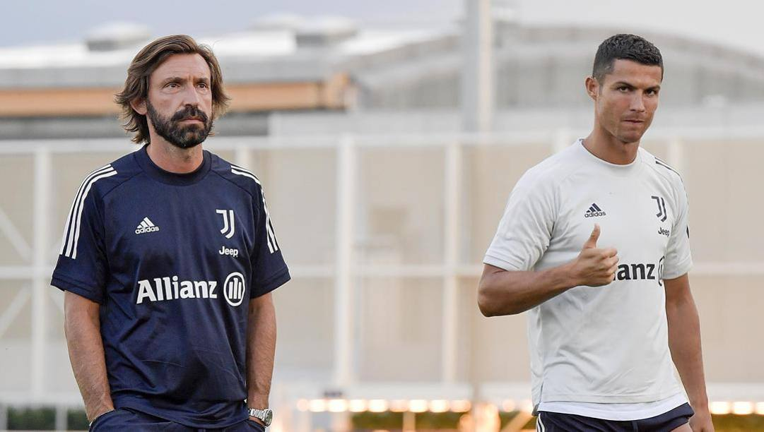 Andrea Pirlo con Cristiano Ronaldo. Getty