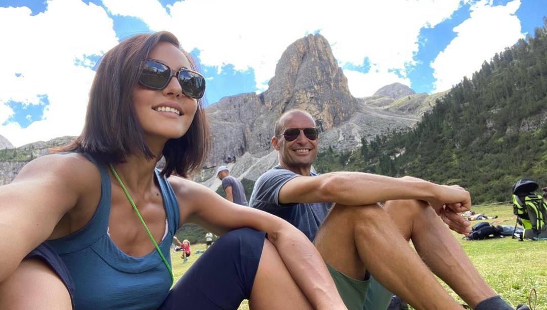 Max Allegri in vacanza con la compagna Ambra Angiolini.