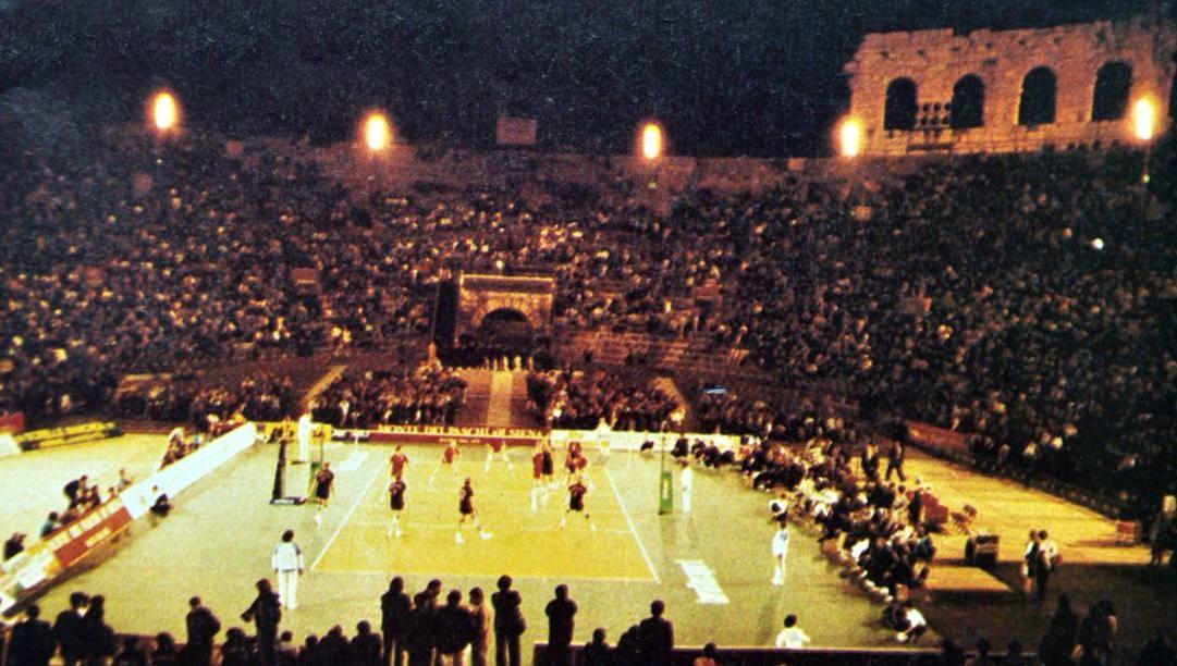 La partita all'Arena di Verona giocata nel 1988. Galbiati