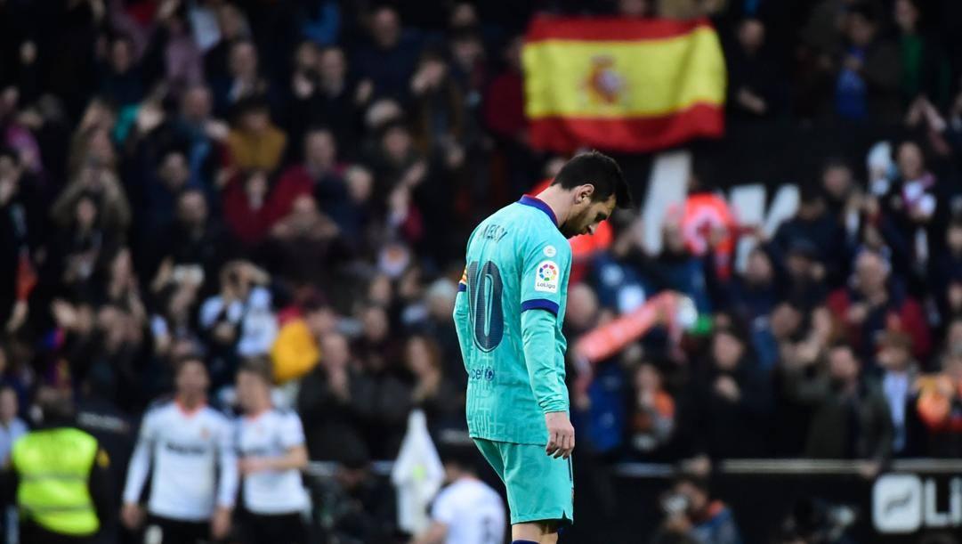 Leo Messi, addio al Barcellona in vista. Getty